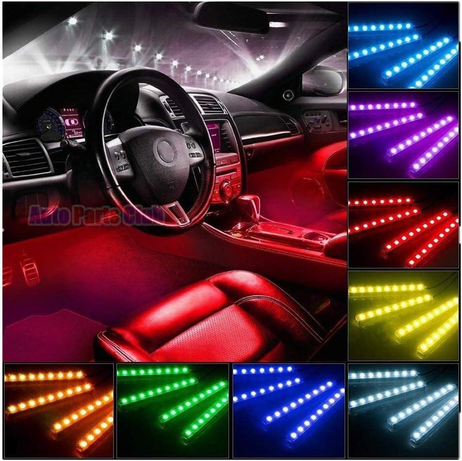 Car LED Strip Light Adv-one 4pcs Music 48 Multicolor Tulsa Mall Some reservation 12V DC