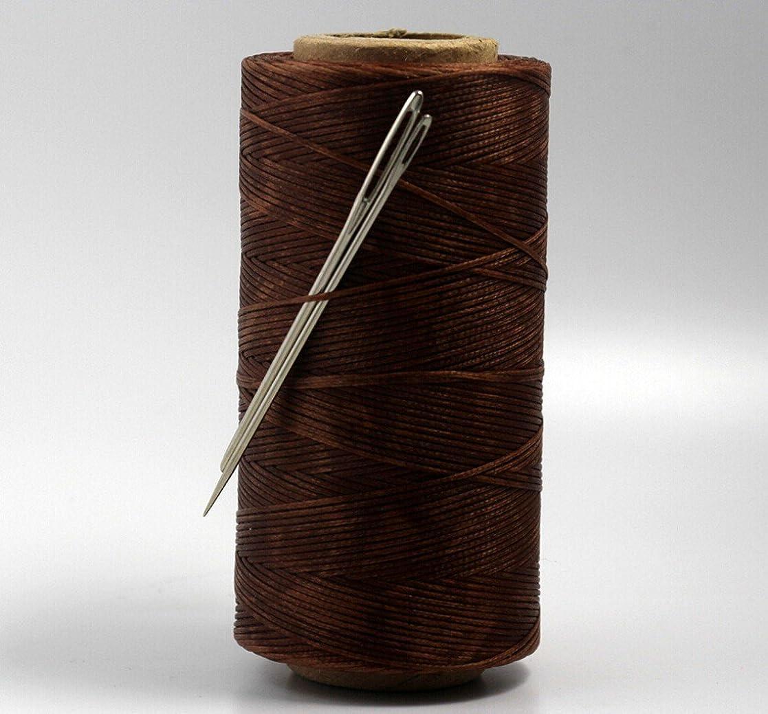 選ぶゆるい結婚式CHENGYIDA BROWN S019 レザークラフト 蝋引き 糸 ひも レザー/カンバス&2大目のニードル用の強力な縫合糸縫い糸