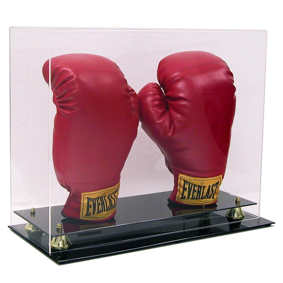 リマークキネマティクス助けになるデラックスDouble Boxing Glove Display Case with、メモリライザーwith Stands for the手袋、UV保護