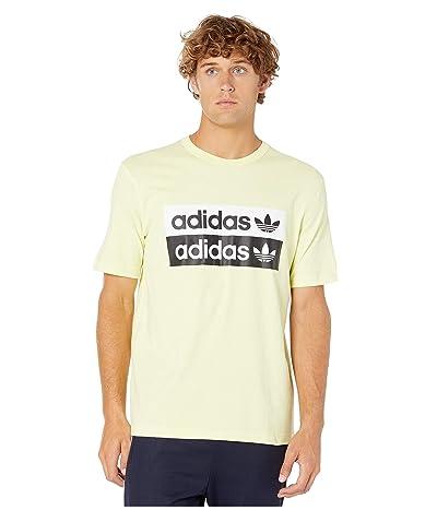 adidas Originals Vocal Logo Tee (Ice/Yellow) Men