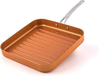 MasterPan Copper tone 11-inch Ceramic Non-stick Square grill pan