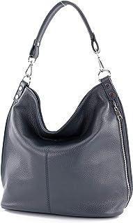 modamoda de - T177 - ital. Damen Schultertasche aus Leder