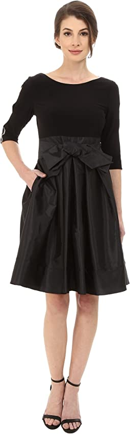 Taffeta Twofer Fit and Flare