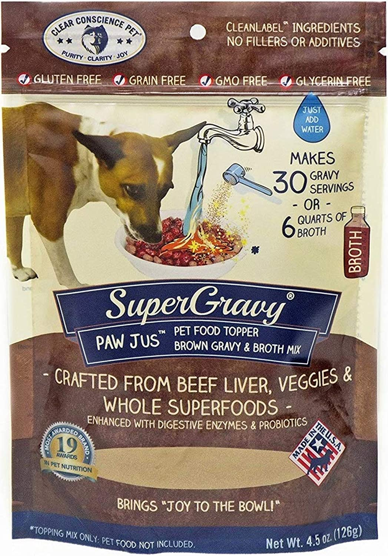 Clear Conscience Pet SuperGravy PAW Jus Natural Pet Food Topper, 4.5 oz.