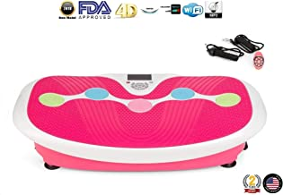 GLOBAL RELAX Zen Shaper Plus Vibration Plate - Pink (2019 New Model) - Fitness oscillating Vibration Platform – MP3 Music – 3 Exercise Areas (Walk-Jogging-Running) - 2 Years Official Warranty US