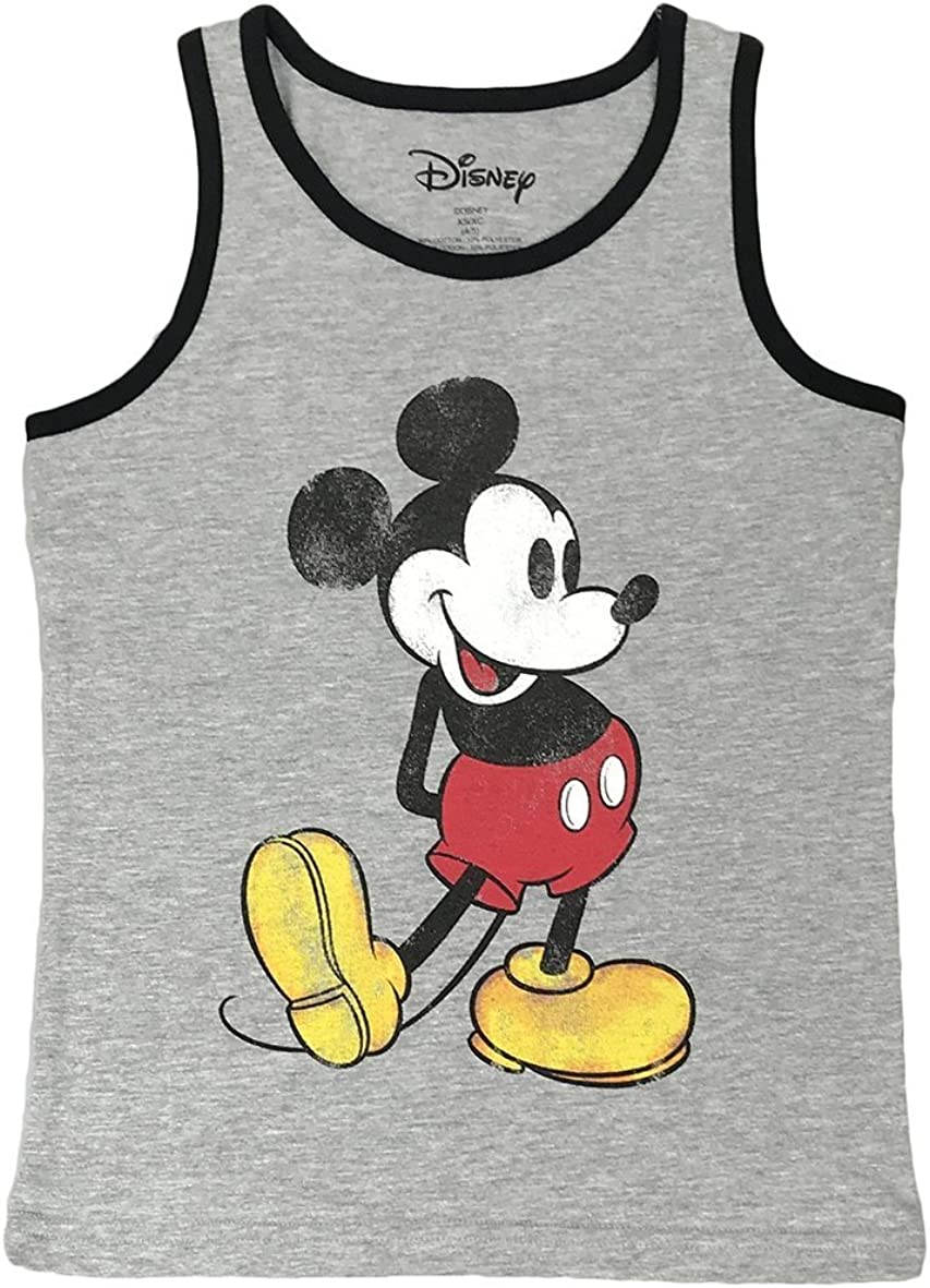 Disney Boys Mickey Mouse Classic Tank Top Heather Grey Medium
