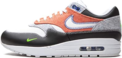 Amazon.com | Nike Men's Air Max 1 Recycled White/Black-Electric ...