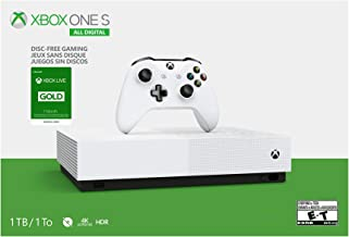 Microsoft Xbox One S 1TB All-Digital Edition Console with Xbox One Wireless Controller and 1 Month Xbox Live Gold Membersh...