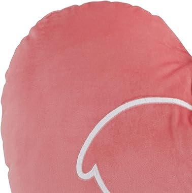 Ivory Ella Lizzy Throw Pillow, 18 x 18, Pink