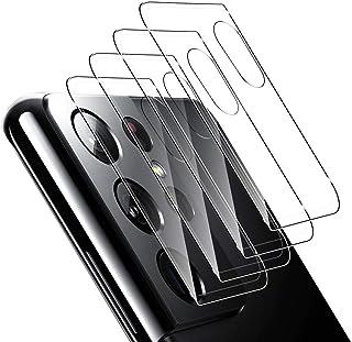 ELYCO [4 Pièces] pour Samsung Galaxy S21 Ultra Caméra Arrière Protecteur, [9H Dureté] sans Bulles Anti-Rayures Verre Tremp...