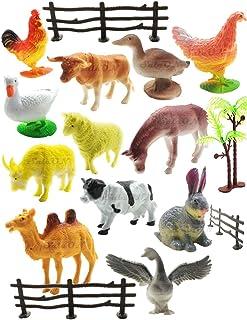 SaleON 12pc Farm Animal Toys Set Model Children Puzzle Early Education Gift Mini Farm Animal Toy Set Realistic Animal Figu...