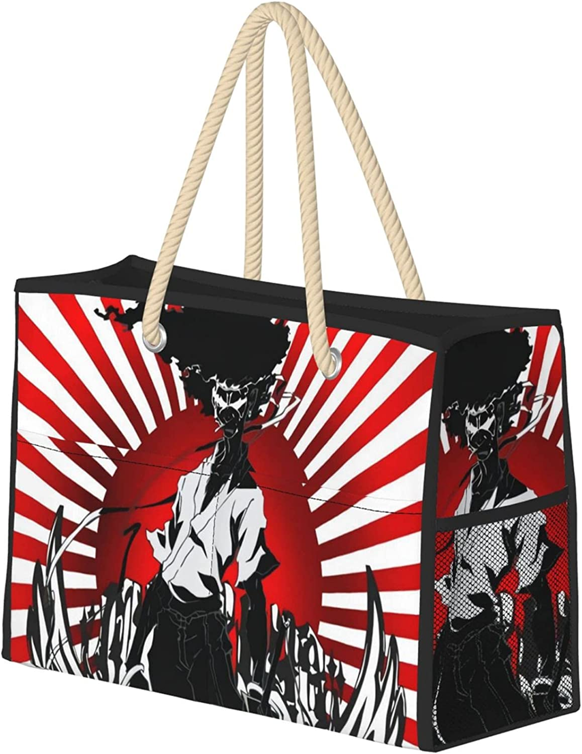 Afro Samurai Large Ladies Department store Travel Beauty products Beach Knotted Rope Han With Bag