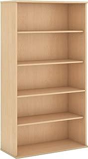 Bush Business Furniture 72H 5 Shelf Bookcase in Natural Maple