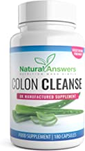 Colon Cleanse Aloe Vera Detox 3 Month Supply 180 Capsules Natural Cleanse High Quality Supplement for Men Women Vegetarian Friendly Well Known Trusted Brand by Natural Answers Estimated Price : £ 6,99