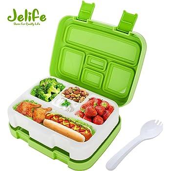 Jelife Fiambrera para Niños Lunchbox con 5 Compartimentos Caja ...