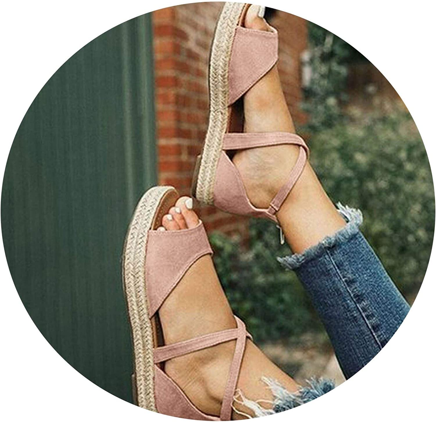 Secret-shop 2019 Women Sandals Gladiator Peep Toe Buckle Design Roman Sandals Women Flat shoes
