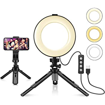 10 Selfie Ring Light with Tripod Stand /& Cell Phone Holder,Ring Light for Live Stream//Makeup Dimmable LED Camera Ringlight for YouTube Video//Photography Compatible for iPhone and Android Phone