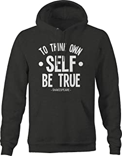 to Thine own self be True Shakespeare Poet Hoodies for Men Dark Grey
