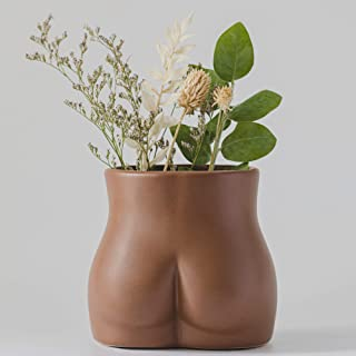 Female Form Body Flower Vase, Ceramic Vases for Modern Boho Home Decor, Lady Butt Vase, Indoor Planter Plant Pot, Feminist...