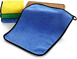 Microfiber Cloth car wash Cleaning Towel Coral Fleece Absorbent Wipe Cloth Household appliances 4-Piece Furniture Kitchen ...