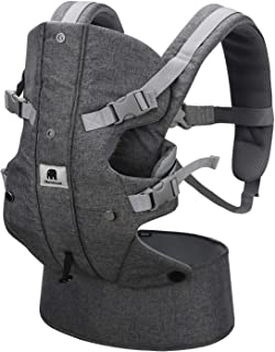 Baby Carrier, Meinkind 2-in-1 Convertible Carrier Ergonomic Breathable Soft Carrier with Head Support Padded Shoulder Straps Front Infant Carrier for Dad Mom All Season, Up to 33lbs Toddler Boys Girls