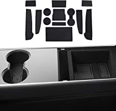 JKCOVER Cup, Door and Center Console Liner for Tesla Model 3 Custom Fit 2017 2018 2019 Accessories (7+6)-pc Set (Black)
