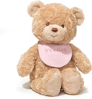 "GUND Baby It's a Girl Bib Bear Plush, 15"""