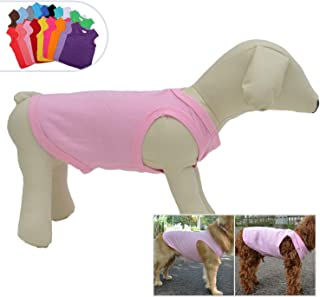 Lovelonglong 2019 Pet Clothing Costumes, Puppy Dog Clothes Blank T-Shirt Tee Shirts for Large Medium Small Dogs, 100% Cotton Classic Pet Clothing Puppies Doggy Vest 18 Colors