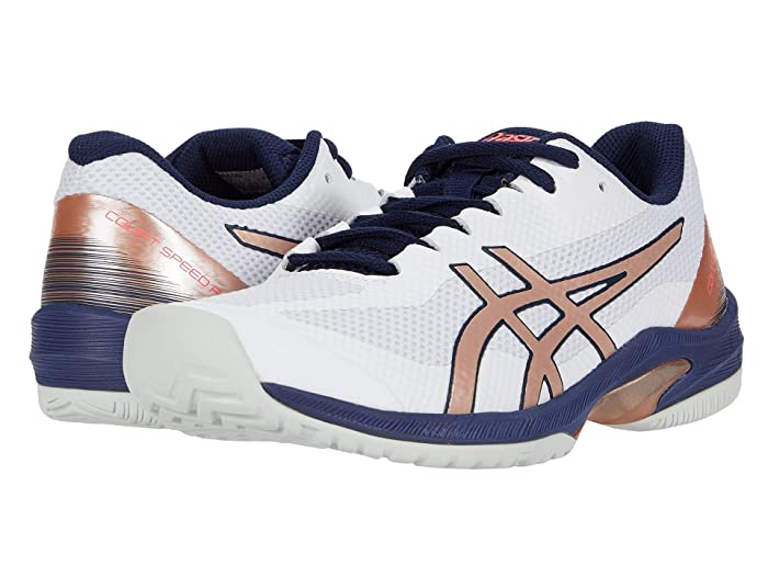 ASICS  Court Speed FF (White/Rose Gold) Womens Tennis Shoes