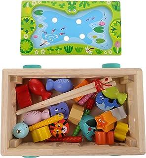 Toddmomy Houten Vormsorteerder Vrachtwagen Hout Auto Speelgoed Mep Een Mol Spel Visserij Spel Speelgoed Voorschoolse Educa...