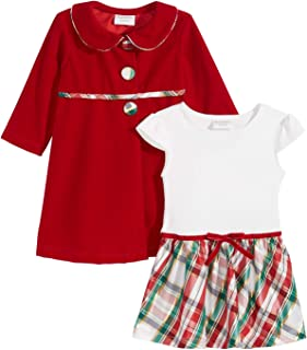 Baby Girls 2-Pc. Coat & Plaid Dress Set