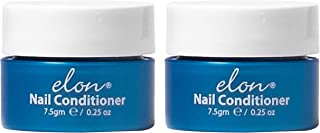 Elon Lanolin-Rich Nail Strengthener | Conditions Nails & Protects Cuticles | Recommended by Dermatologists & Podiatrists 2 Pack (7.5g jar)