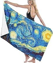 HSHY Toalla de Playa Van Gogh The Starry Night Rediseño Manta de Playa Grande Secado rápido Toalla Extra Absorbente sin arenahshy