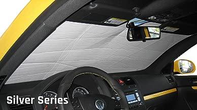 The Original Windshield Sun Shade, Custom-Fit for Ford Focus Hatchback (5D) w/o Sensor 2012, 2013, 2014, 2015, 2016, 2017, 2018, Silver Series