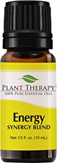 Plant Therapy Essential Oils Energy Synergy - Refreshing, Energizing Blend 100% Pure, Undiluted, Natural Aromatherapy, Therapeutic Grade 10 mL (1/3 oz)