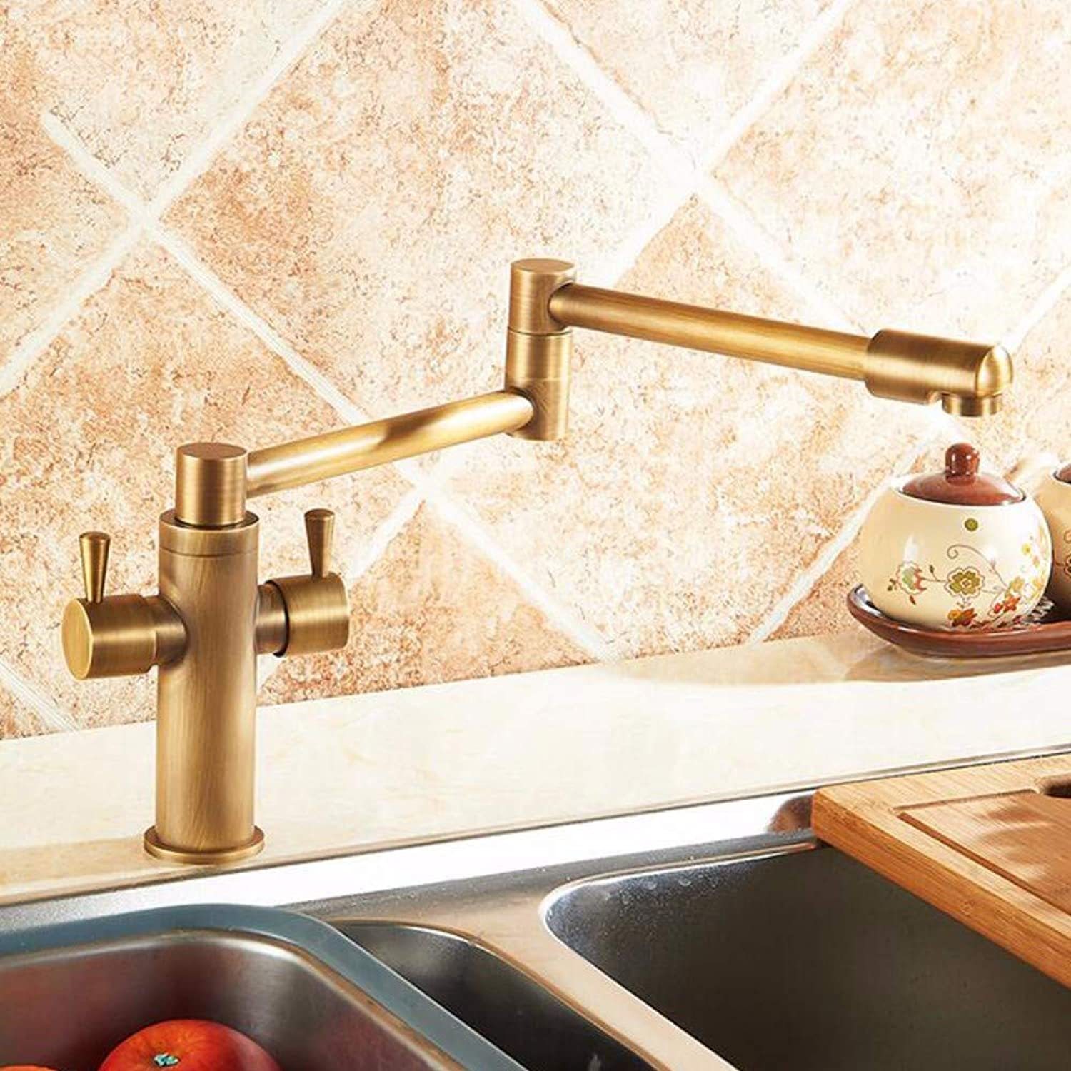 XHSSF-Kitchen tapKitchen Ancient Copper Hot and Cold 360 redary Faucet