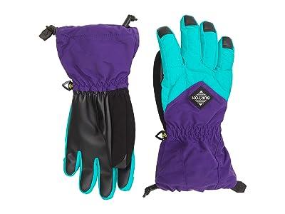 Burton Kids Profile Gloves (Little Kids/Big Kids) (Dynasty Green/Parachute Purple) Snowboard Gloves