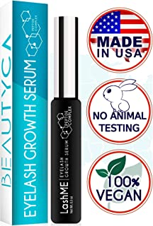 Eyelash Growth Serum Eyebrow Growth - Vegan Lash Boost 8,5 ML - Best Eyelash Conditioner - Brow Enhancer - USA Made Irritation Free Formula