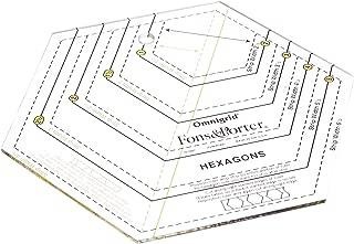 Dritz Fons & Porter R7891 Hexagon Ruler