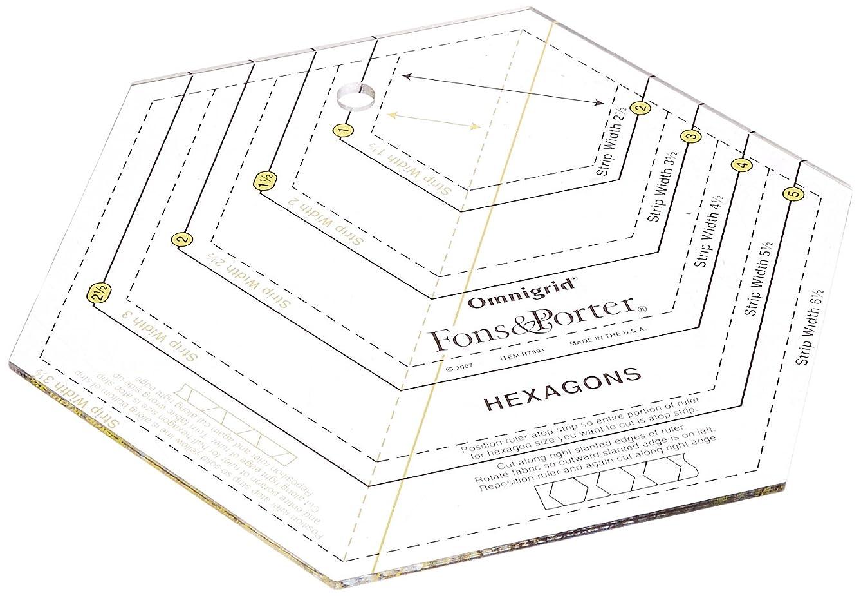 Fons & Porter R7891 Hexagon Ruler