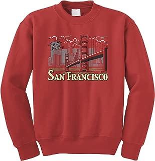 Cybertela San Francisco Golden Gate Bridge Crewneck Sweatshirt