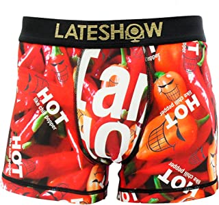 LATESHOW (レイトショー) メンズ ローライズ ボクサーパンツ I'M TOO HOT FOR YOU 吸水速乾 特許製法の消臭効果 パンツ ブリーフ ブランド 男性 下着 ボクサー