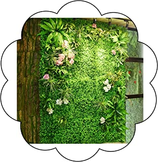 XEWNEG Realistic Green Plant Panel Artificial Hedge Fence Privacy Screen Lawn Indoor Outdoor Wall Floor Decor (Color : 02)