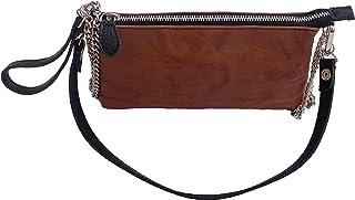 Borsa borsetta a spalla o a tracolla pochette beautycase astuccio in vera pelle pregiata e riciclata effetto vintage Col. ...