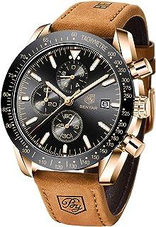 BENYAR Mens Watches Quartz Chronograph Business Luxury Brand Waterproof Wristwatches Fashion...