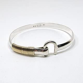 St. Croix Hook Bracelet, Sterling Silver and 14K Gold Fill Hook Braclet 6 mm Wide, Island Love Bracelet