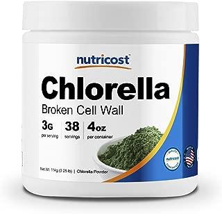 Nutricost Chlorella Powder 4oz - Pure Chlorella, 3000mg Per Serving, Non-GMO & Gluten Free