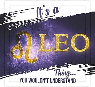 Leo Zodiac Sign Gifts   7x7 Tile Artwork   Astrology Decor for Leo Men or Women   Zodiac Themed Gift for Leo   Perfect for Horoscope Lover   Art Print for Room and Home