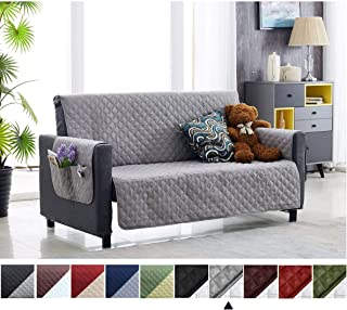 Argstar Couch Cover with Storage Pockets for Dogs Protector Sofa Slipcover Gray