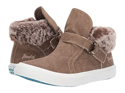 Blowfish Mint (Dark Brown Sahara Canvas/Alaskan Fur) Women